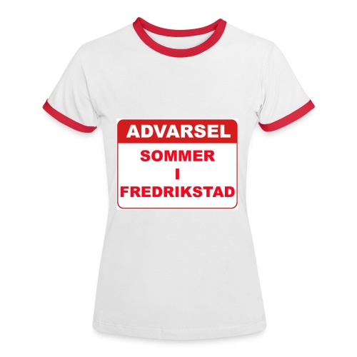 warningsommerifredrikstad - Kontrast-T-skjorte for kvinner
