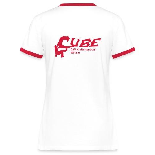 Cube Logo - Frauen Kontrast-T-Shirt