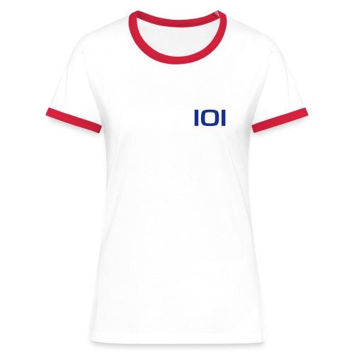 101vector - Dame kontrast-T-shirt