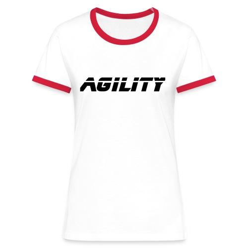 agi01 - T-shirt contrasté Femme