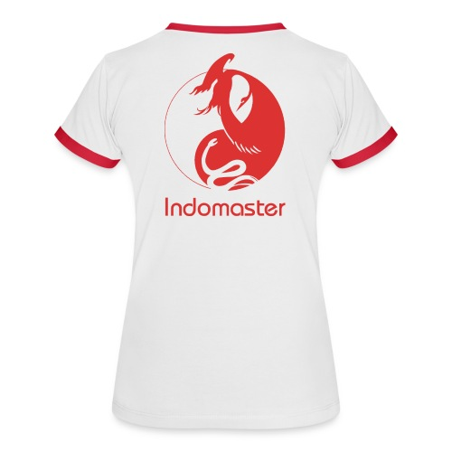 indomaster logo red - Women's Ringer T-Shirt