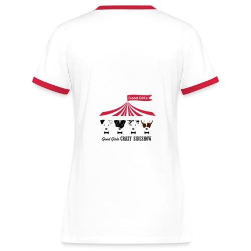 crazysideshow_2col - Kontrast-T-shirt dam