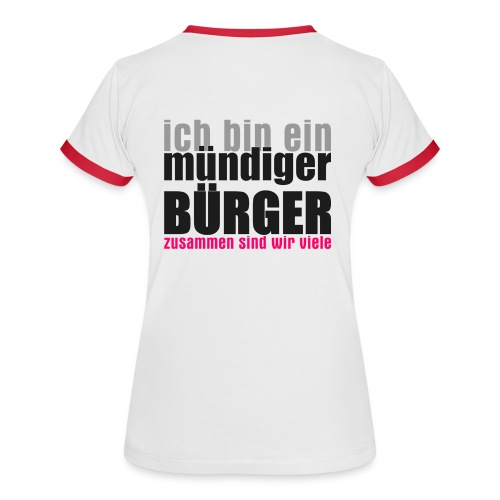 muendiger_buerger - Frauen Kontrast-T-Shirt