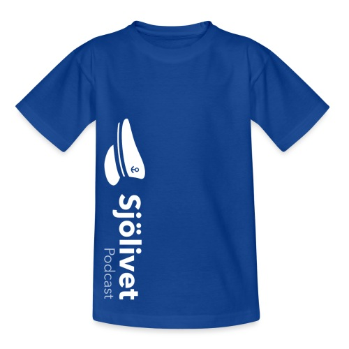 Sjölivet podcast - Vit logotyp - T-shirt barn