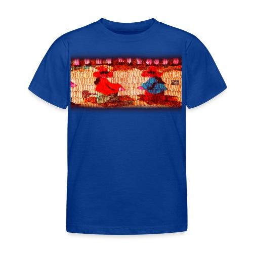 Dos Paisanitas tejiendo telar inka - Kinder T-Shirt