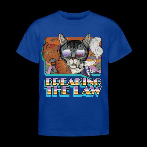 Crime Cat in Shades - Braking the Law - Koszulka dziecięca