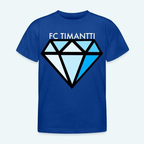 FCTimantti logo valkteksti futura - Lasten t-paita
