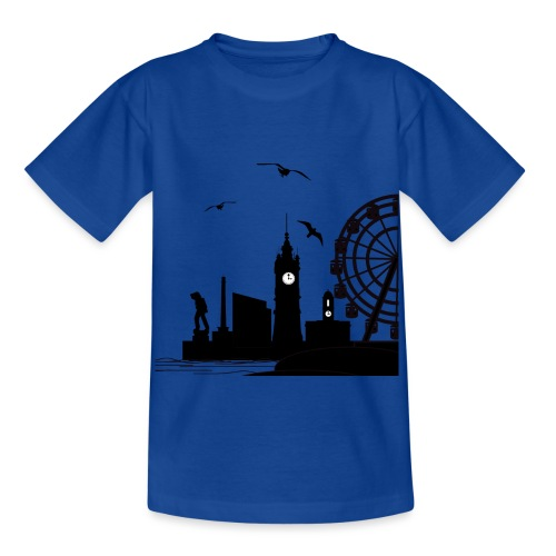 Silhouette of Margate - Kids' T-Shirt