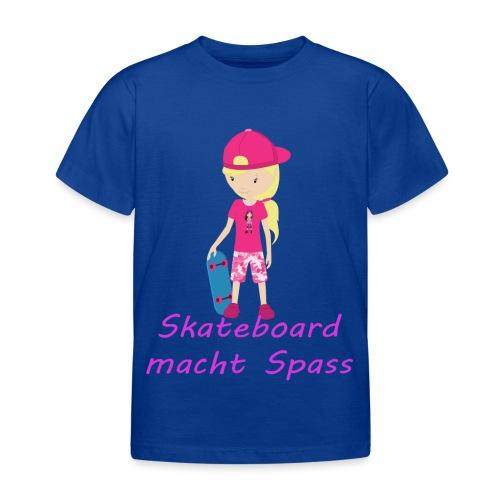 Skateboard macht Spass - Sportliches Girl - Kinder T-Shirt