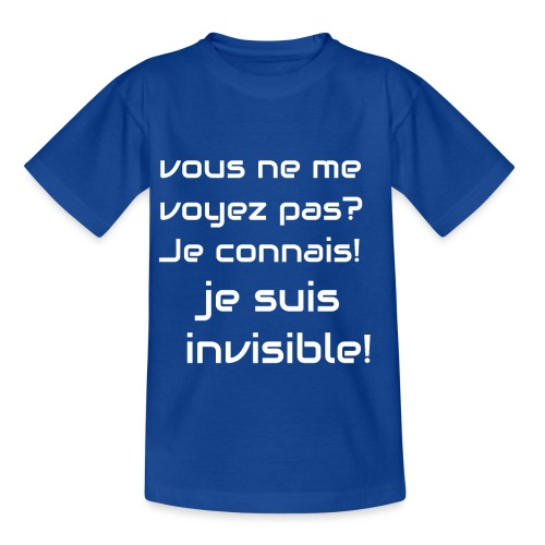 Invisibile #invisibile - Maglietta per bambini