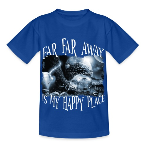 My Happy Place - Black & White - Kinderen T-shirt
