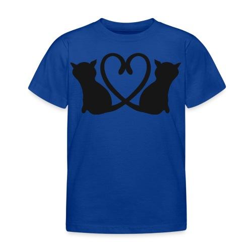 Katzen bilden ein Herz mit ihren Schwänzen - Kinder T-Shirt
