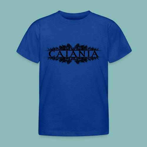 Caiania-logo musta - Lasten t-paita