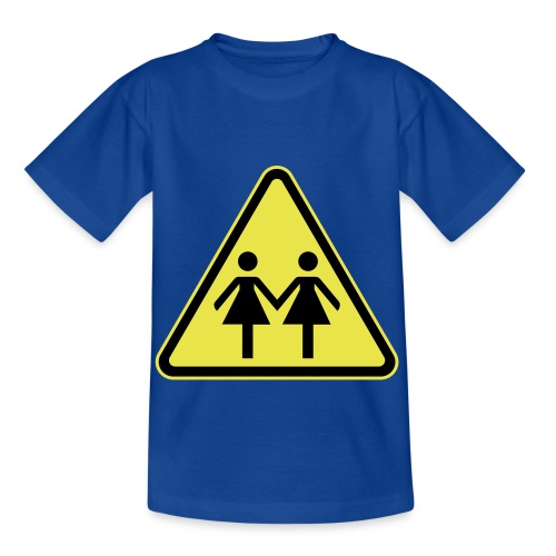 ACHTUNG LESBEN POWER! Motiv für lesbische Frauen - Kinder T-Shirt