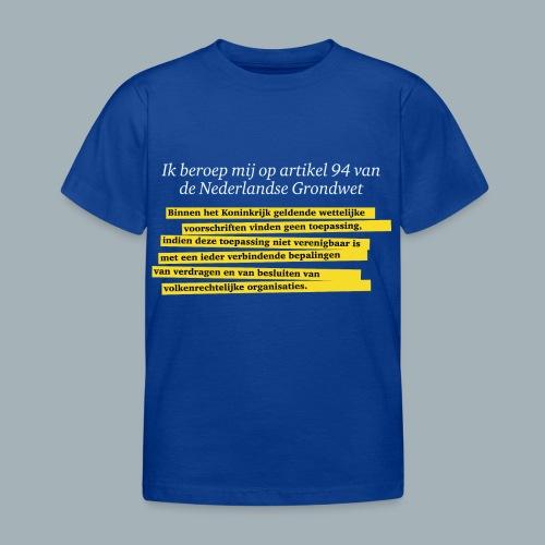 Nederlandse Grondwet T-Shirt - Artikel 94 - Kinderen T-shirt
