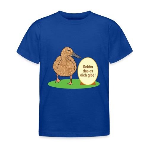Ente mit Ei - Kinder T-Shirt