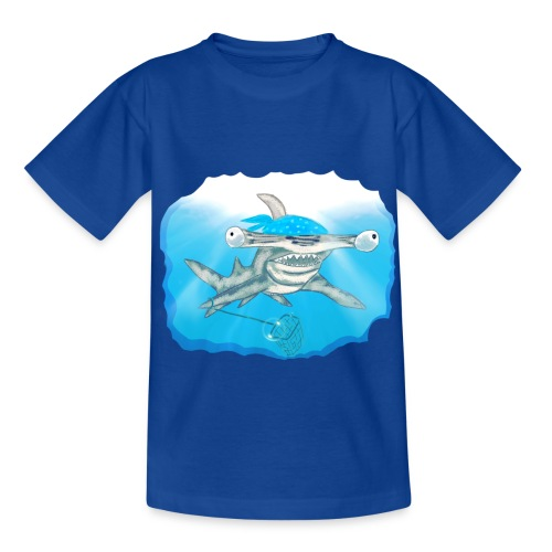 Hunting hammer fish design print - Kids' T-Shirt