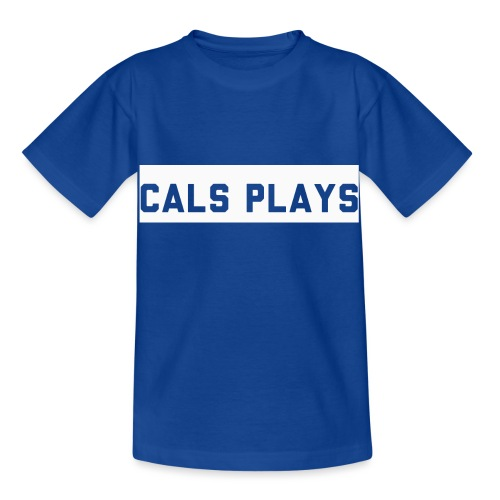 Cals Plays Text White - Kids' T-Shirt