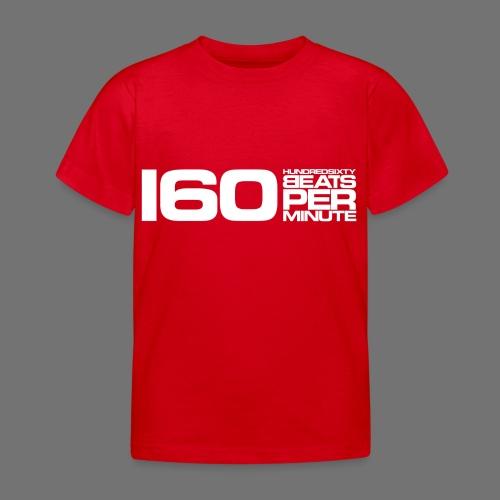 160 BPM (valkoinen pitkä) - Lasten t-paita