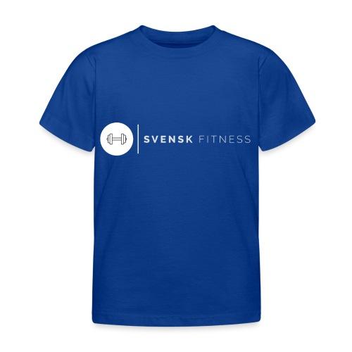 Vit vertikal logo dam - T-shirt barn