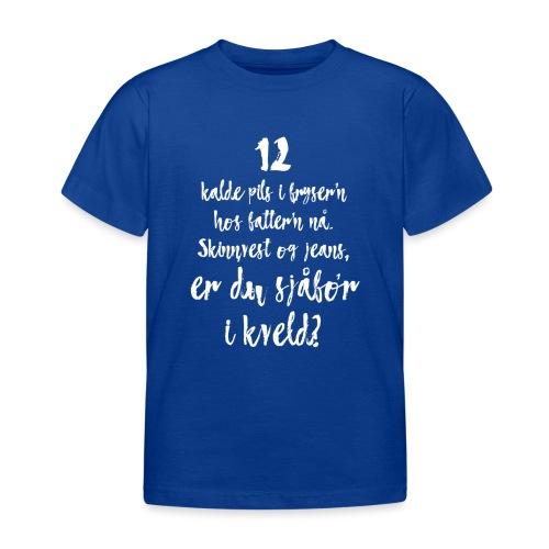 Er du med eller imot oss? - T-skjorte for barn