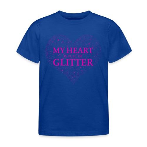 Herz Glitzer - Kinder T-Shirt