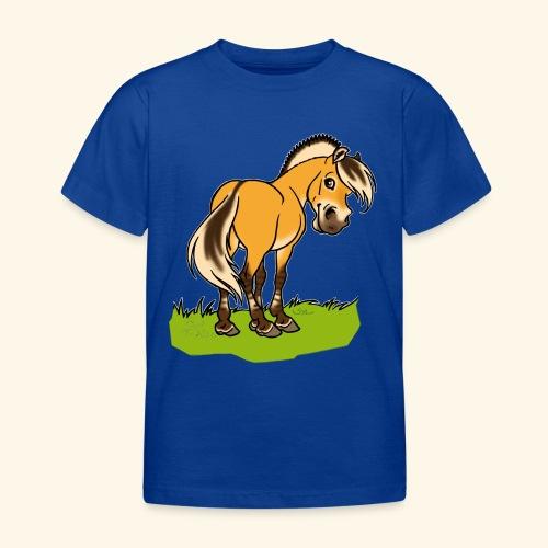 Freundliches Fjordpferd (Ohne Text) Weisse Umrisse - T-shirt Enfant