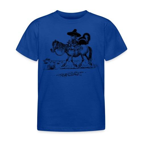 Thelwell Cowboy mit einem Stinktier - Kinder T-Shirt