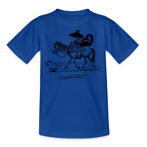 Thelwell 'Cowboy with a skunk' - Kids' T-Shirt