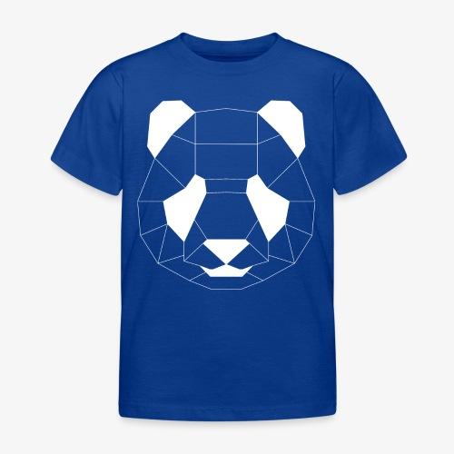 Panda Geometrisch weiss - Kinder T-Shirt