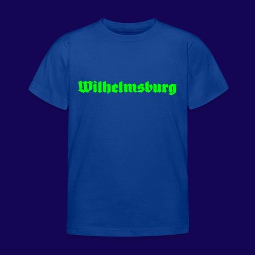 Wilhelmsburg Fraktur-Typo: Die Hamburger Elbinsel! - Kinder T-Shirt