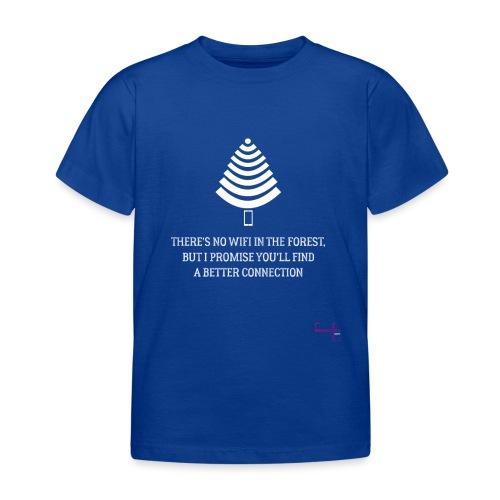 signal t hvid - Børne-T-shirt