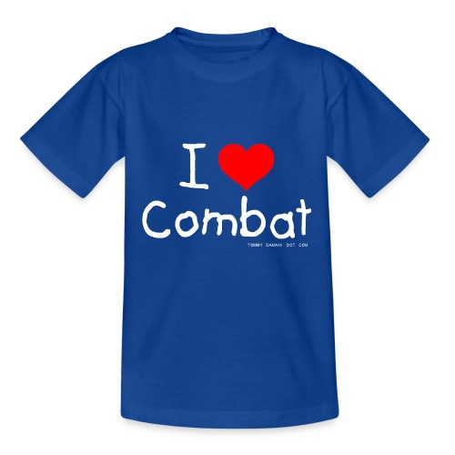 I Love Combat - White Font - Kids' T-Shirt