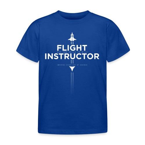 FlightInstructor white - Kinder T-Shirt