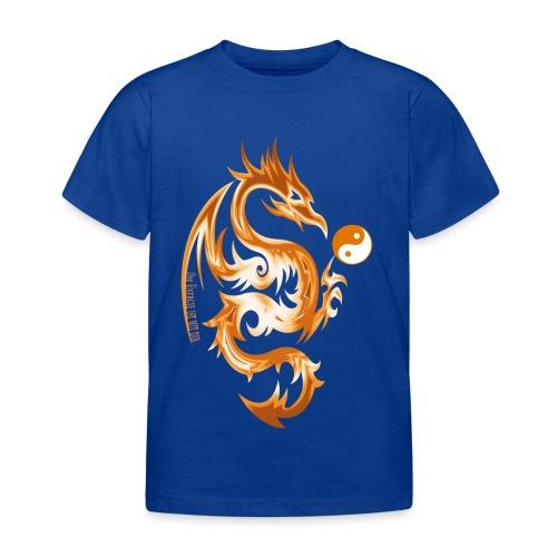 Der Drache spielt mit der Energie des Lebens. - Kinder T-Shirt