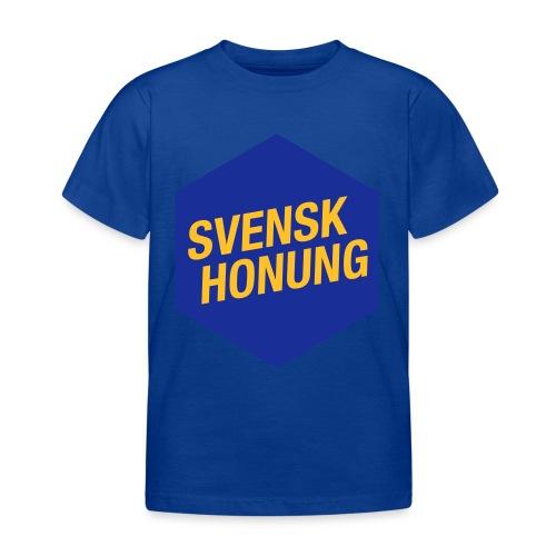 Svensk honung Hexagon Blå/Gul - T-shirt barn