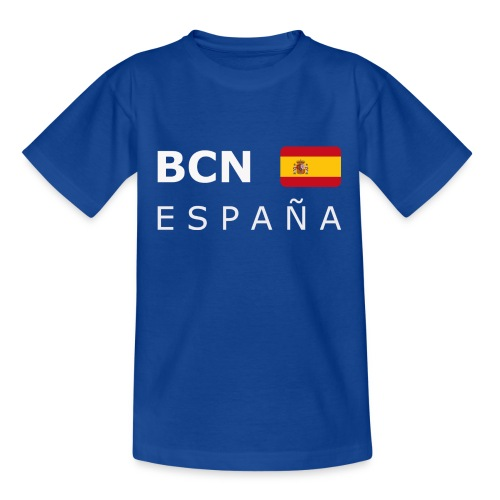 BCN ESPAÑA white-lettered 400 dpi - Kids' T-Shirt
