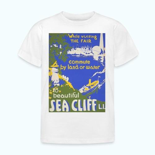 Lake travel vintage poster - Kids' T-Shirt