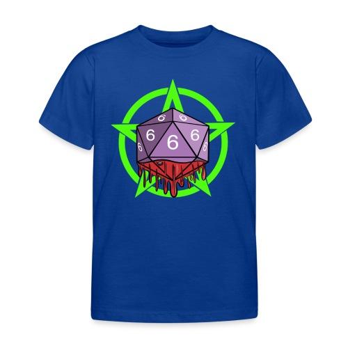 Würfel RPG Spiel Rollenspiele 666 mit Pentagramm - Kinder T-Shirt