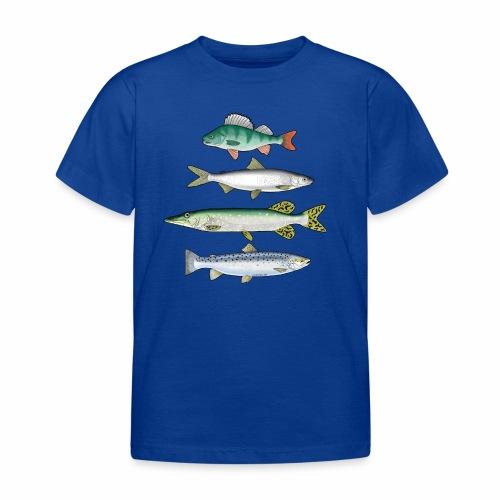 FOUR FISH - Ahven, siika, hauki ja taimen tuotteet - Lasten t-paita