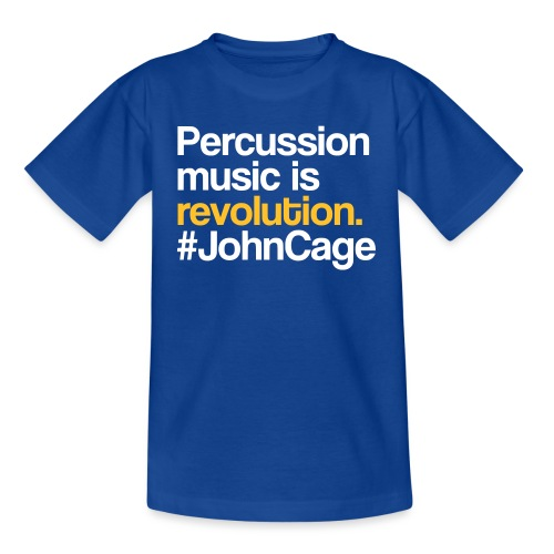 John Cage - Percussion Music (Schlagzeug Motiv) - Kinder T-Shirt