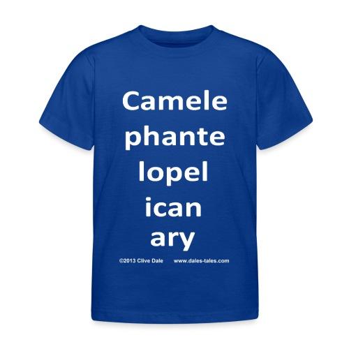 camelepha 5lines white - Kids' T-Shirt