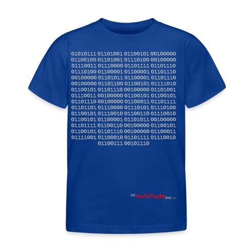 Nutteloos binair - Kinderen T-shirt