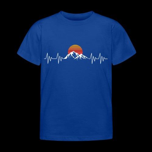 Heartbeat Berge - Herzschlag Wanderer T-Shirt - Kinder T-Shirt