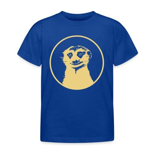 Stokstaartje groot rond diapositief - Kinderen T-shirt