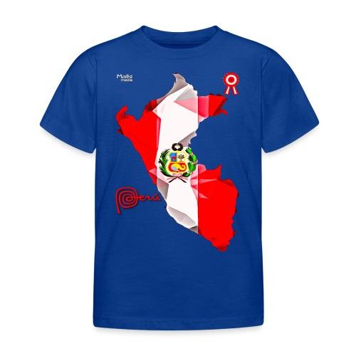 Mapa del Peru, Bandera und Escarapela - Kinder T-Shirt