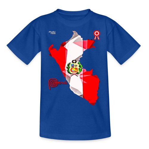 Mapa del Peru, Bandera y Escarapela - Kids' T-Shirt