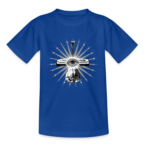 Blues Is The Truth - grey star - Kids' T-Shirt