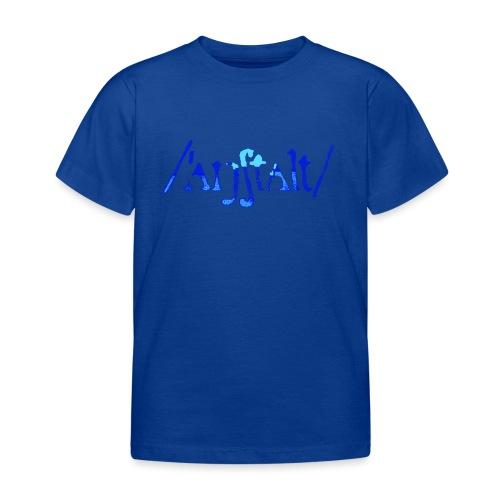 /'angstalt/ logo gerastert (blau/transparent) - Kinder T-Shirt