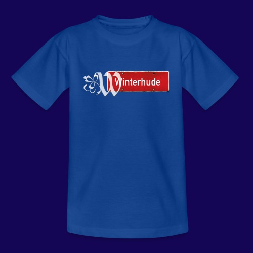 Hamburg- Winterhude: Ortsschild mit Tattoo Initial - Kinder T-Shirt